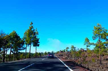 Nationaal Park El Teide wegen