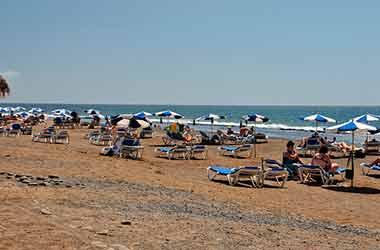 Playa de Las Americas ligstoelen